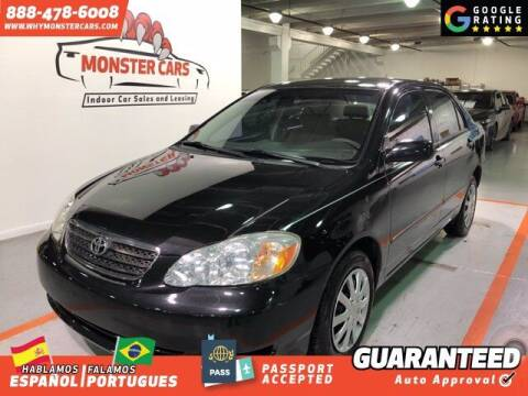 2006 Toyota Corolla for sale at Monster Cars in Pompano Beach FL