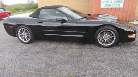 2002 Chevrolet Corvette for sale at LENTZ USED VEHICLES INC in Waldo WI