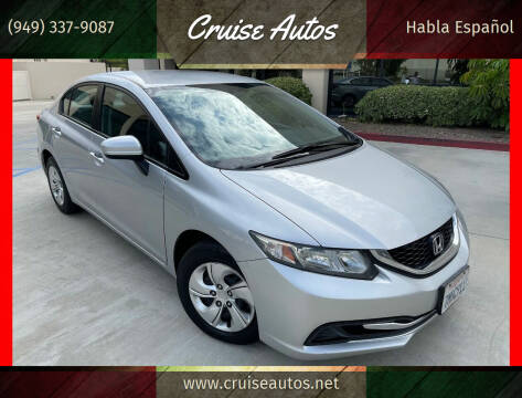 2015 Honda Civic for sale at Cruise Autos in Corona CA
