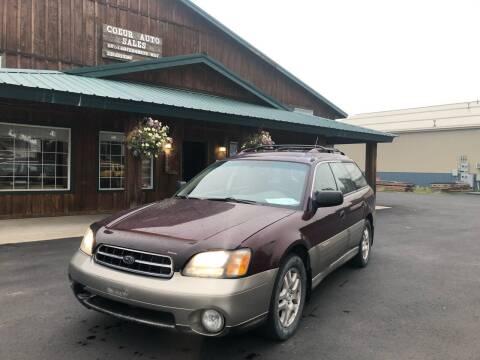 2001 Subaru Outback for sale at Coeur Auto Sales in Hayden ID