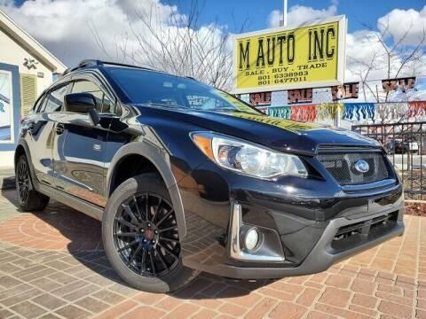 2016 Subaru Crosstrek for sale at M AUTO, INC in Millcreek UT