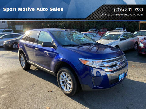 2013 Ford Edge for sale at Sport Motive Auto Sales in Seattle WA
