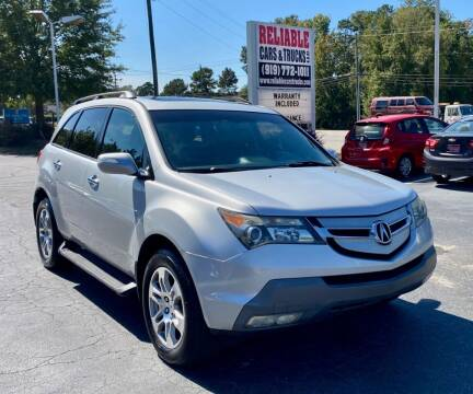2009 Acura MDX for sale at Reliable Cars & Trucks LLC in Raleigh NC