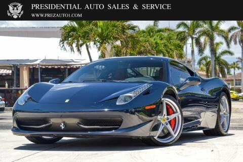 2011 Ferrari 458 Italia for sale at Presidential Auto  Sales & Service in Delray Beach FL