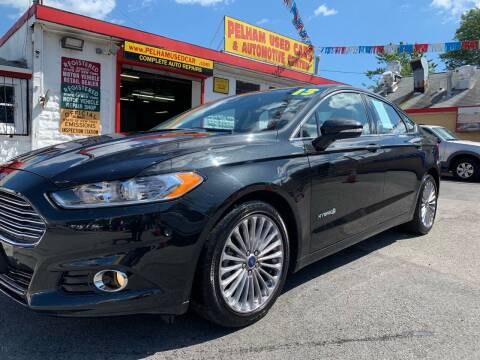 2013 Ford Fusion Hybrid for sale at PELHAM USED CARS & AUTOMOTIVE CENTER in Bronx NY