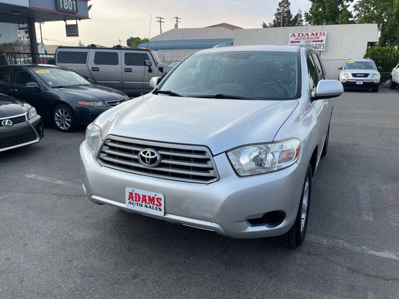 2008 Toyota Highlander for sale at Adams Auto Sales in Sacramento CA