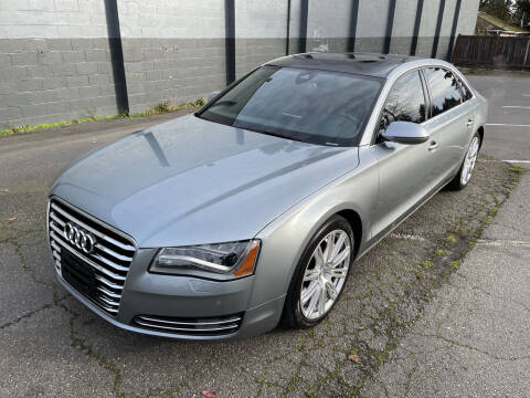 2012 Audi A8 L for sale at APX Auto Brokers in Lynnwood WA