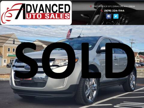 2013 Ford Edge for sale at Advanced Auto Sales in Dracut MA