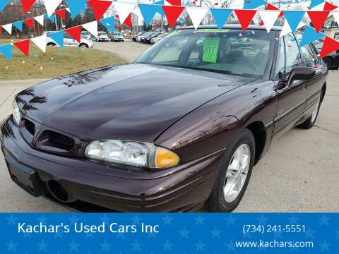 1997 Pontiac Bonneville for sale at Kachar's Used Cars Inc in Monroe MI