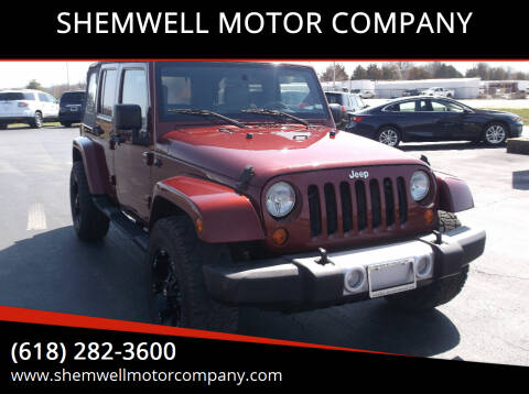 2008 Jeep Wrangler Unlimited for sale at SHEMWELL MOTOR COMPANY in Red Bud IL