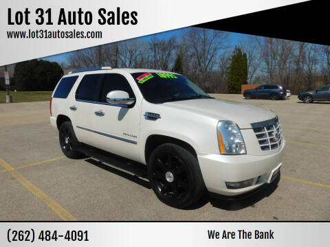 2011 Cadillac Escalade ESV for sale at Lot 31 Auto Sales in Kenosha WI