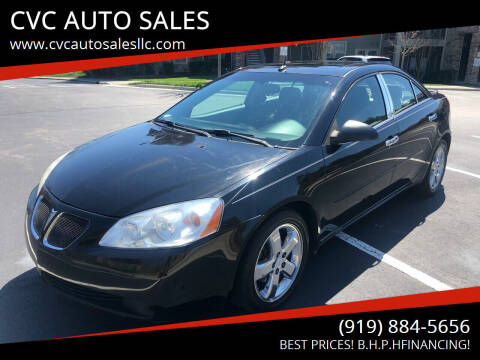 2005 Pontiac G6 for sale at CVC AUTO SALES in Durham NC