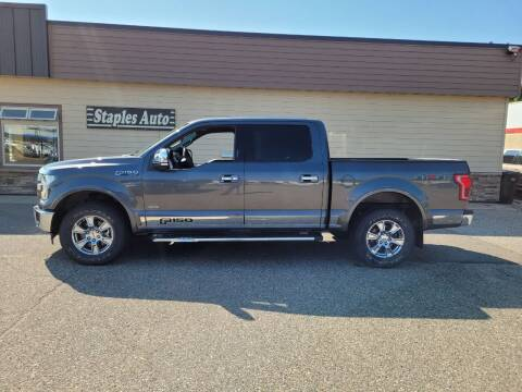 2017 Ford F-150 for sale at STAPLES AUTO SALES in Staples MN