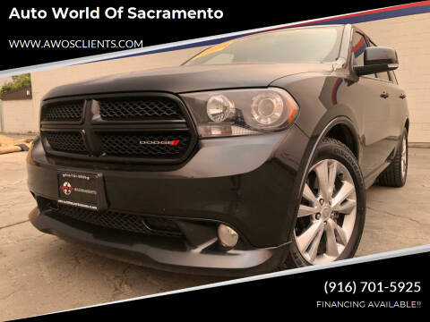 2012 Dodge Durango for sale at Auto World of Sacramento Stockton Blvd in Sacramento CA