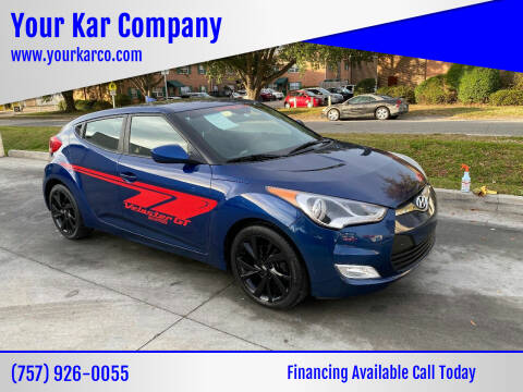 2017 Hyundai Veloster for sale at Your Kar Company in Norfolk VA