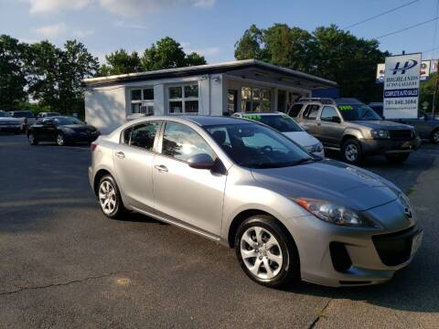 2013 Mazda MAZDA3 for sale at Highlands Auto Gallery in Braintree MA