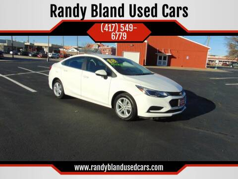 2018 Chevrolet Cruze for sale at Randy Bland Used Cars in Nevada MO