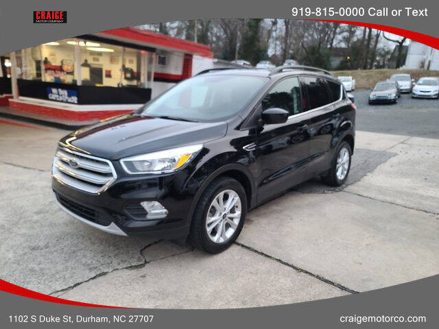 2018 Ford Escape for sale at CRAIGE MOTOR CO in Durham NC