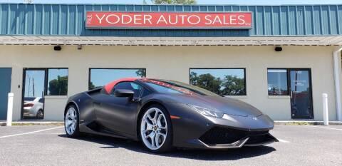 2016 Lamborghini Huracan for sale at PAUL YODER AUTO SALES INC in Sarasota FL