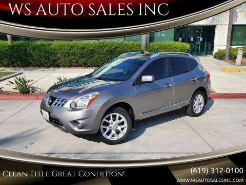 2013 Nissan Rogue for sale at WS AUTO SALES INC in El Cajon CA