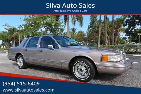 1994 Lincoln Town Car for sale at Silva Auto Sales in Pompano Beach FL