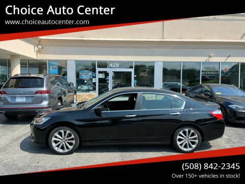 2014 Honda Accord for sale at Choice Auto Center in Shrewsbury MA