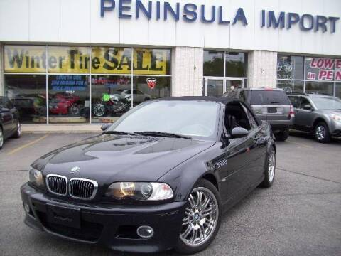 2003 BMW M3 for sale at Peninsula Motor Vehicle Group in Oakville Ontario NY