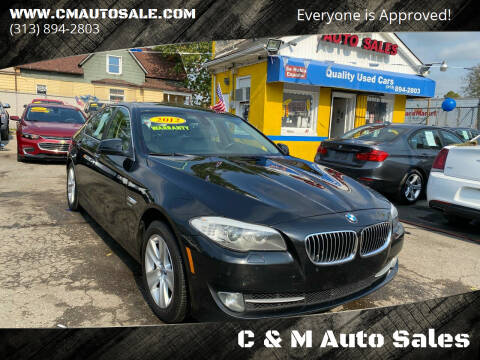 2012 BMW 5 Series for sale at C & M Auto Sales in Detroit MI