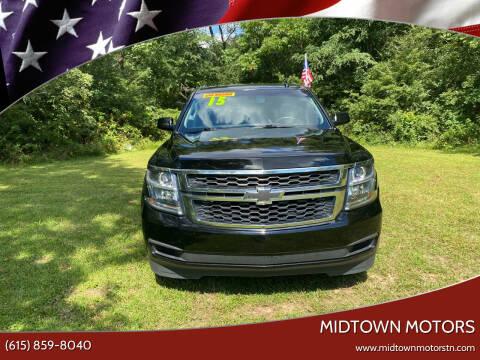 2015 Chevrolet Tahoe for sale at Midtown Motors in Greenbrier TN