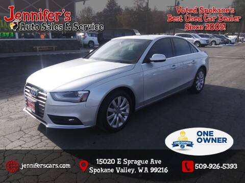 2013 Audi A4 for sale at Jennifer's Auto Sales in Spokane Valley WA