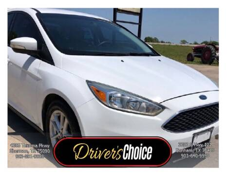 2015 Ford Focus for sale at Driver's Choice in Sherman TX