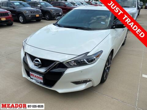 2016 Nissan Maxima for sale at Meador Dodge Chrysler Jeep RAM in Fort Worth TX