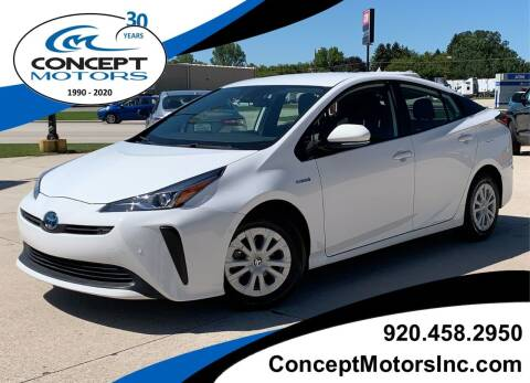 2019 Toyota Prius for sale at CONCEPT MOTORS INC in Sheboygan WI