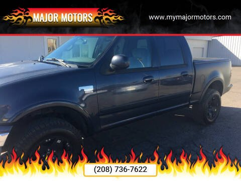 2001 Ford F-150 for sale at Major Motors in Twin Falls ID