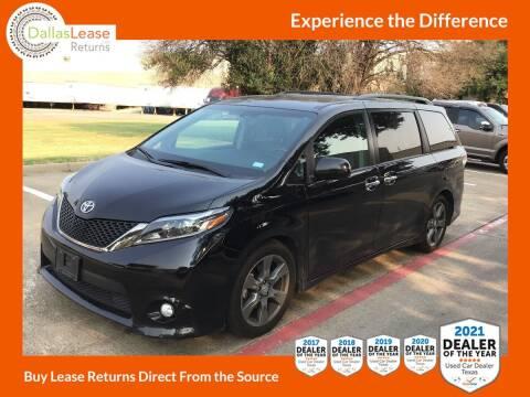 2017 Toyota Sienna for sale at Dallas Auto Finance in Dallas TX