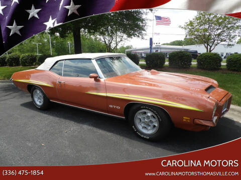 1971 Pontiac GTO for sale at CAROLINA MOTORS in Thomasville NC