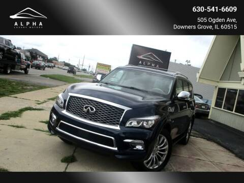 2016 Infiniti QX80 for sale at Alpha Luxury Motors in Downers Grove IL