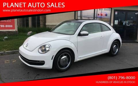 2013 Volkswagen Beetle for sale at PLANET AUTO SALES in Lindon UT