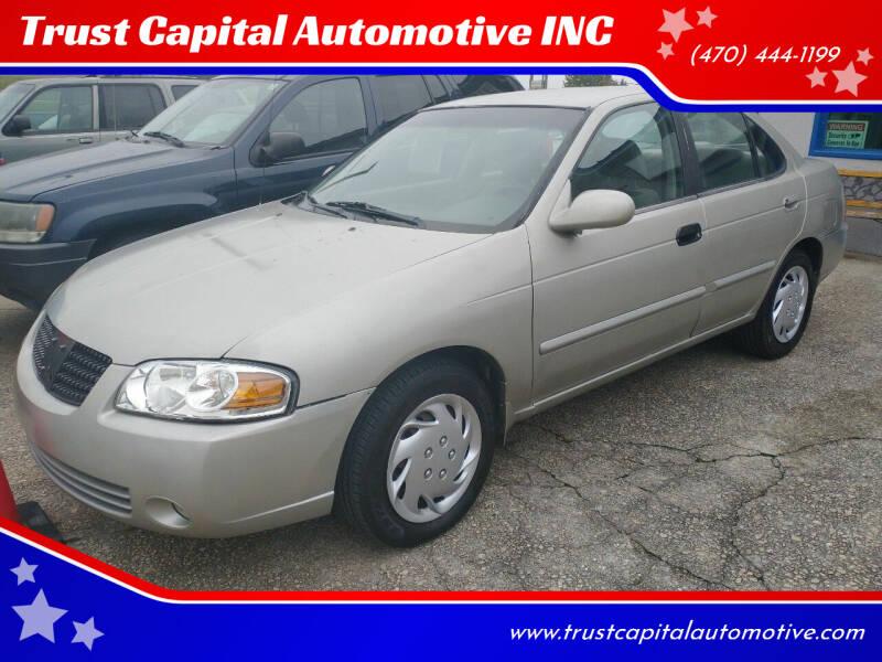 2004 Nissan Sentra for sale at Trust Capital Automotive Inc. in Covington GA