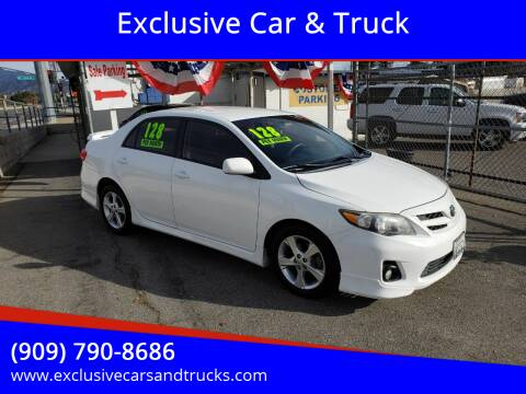 2012 Toyota Corolla for sale at Exclusive Car & Truck in Yucaipa CA
