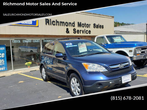 2007 Honda CR-V for sale at Richmond Motor Sales and Service in Richmond IL