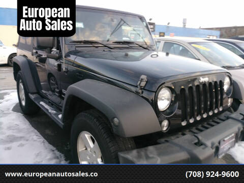 2016 Jeep Wrangler for sale at European Auto Sales in Bridgeview IL