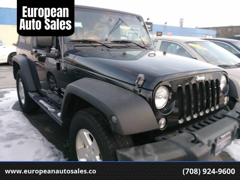 2016 Jeep Wrangler for sale at European Auto Sales in Bridgeview IL