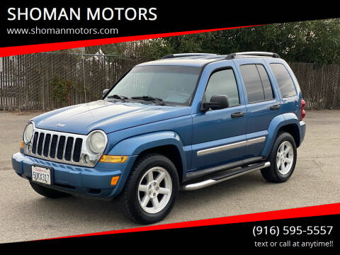 2006 Jeep Liberty for sale at SHOMAN MOTORS in Davis CA