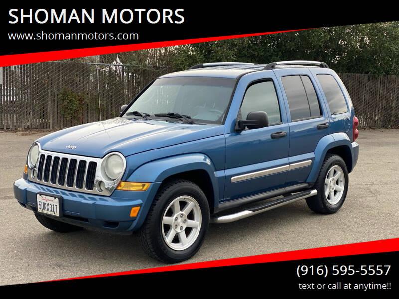 2006 Jeep Liberty for sale at SHOMAN MOTORS in Davis CA