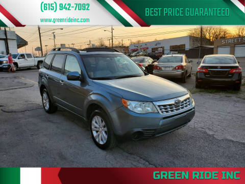 2012 Subaru Forester for sale at Green Ride Inc in Nashville TN