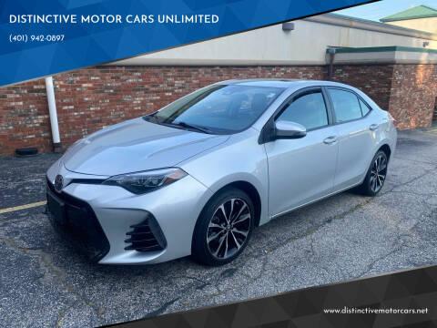 2017 Toyota Corolla for sale at DISTINCTIVE MOTOR CARS UNLIMITED in Johnston RI