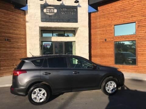 2015 Toyota RAV4 for sale at Hamilton Motors in Lehi UT