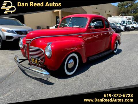 1941 Plymouth Deluxe for sale at Dan Reed Autos in Escondido CA