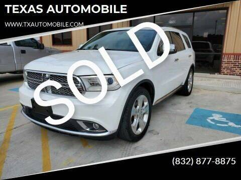 2015 Dodge Durango for sale at TEXAS AUTOMOBILE in Houston TX